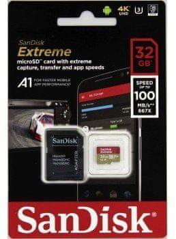 SanDisk spominska kartica Extreme microSDHC A1, 32GB