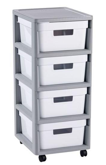 CURVER Infinity összecsukható fiókok 4x 11 L fehér