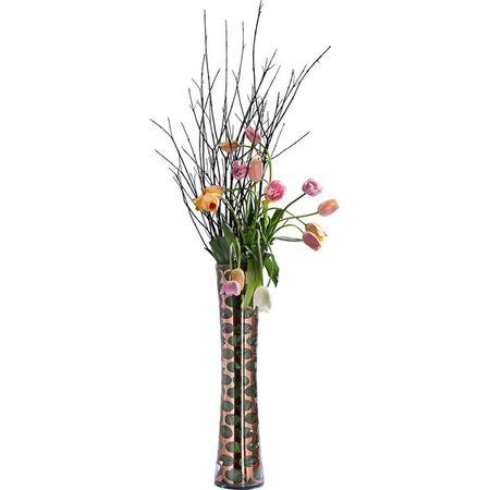 KARE Váza Circle Copper Taille 80cm