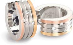 Boccia Titanium Aranyozott titán karika fülbevaló 0592-03