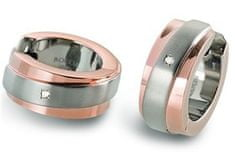Boccia Titanium Aranyozott titán fülbevaló gyémánttal 0560-08
