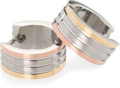 Boccia Titanium Aranyozott titán karika fülbevaló 0592-02