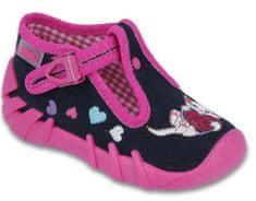 Befado Speedy lány papucs 19 rózsaszín/fekete