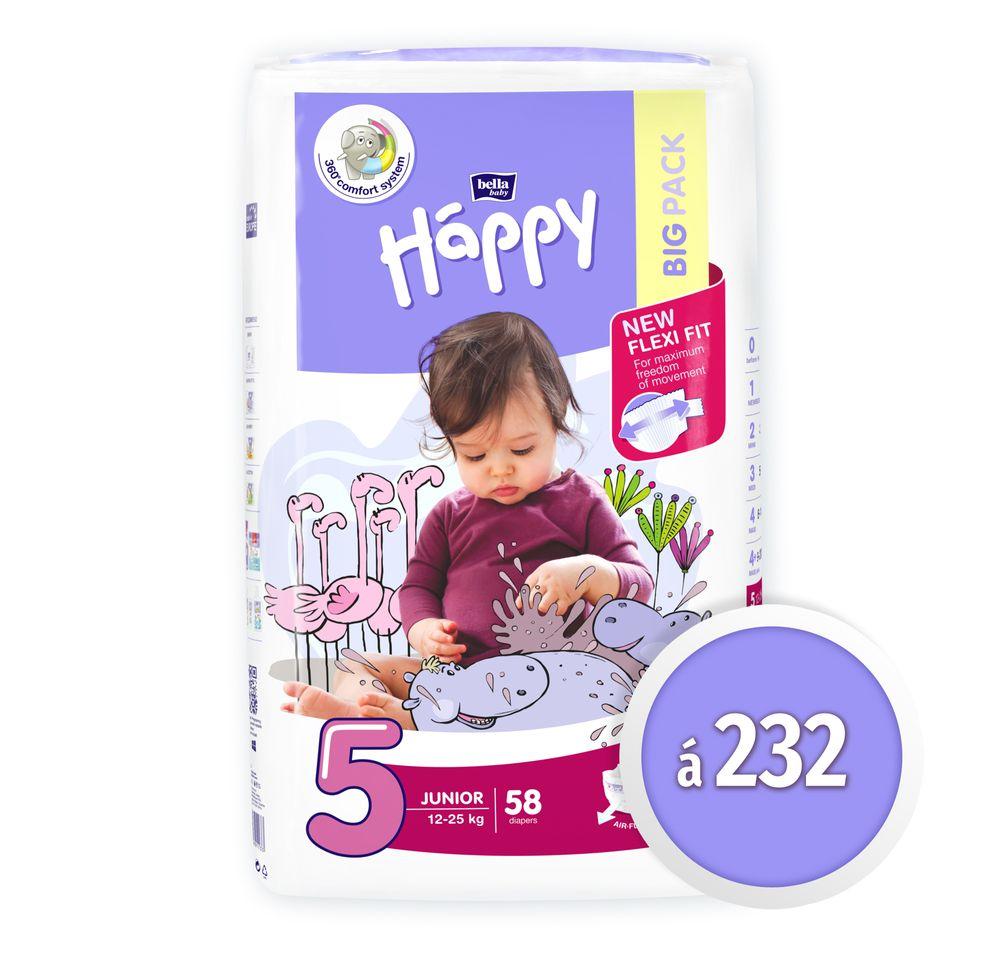 Bella Happy 5 Junior Big Pack (12-25 kg) 232 ks (4x58 ks)