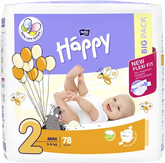 Bella Happy 2 Mini pelenka (3-6 kg) 78 db