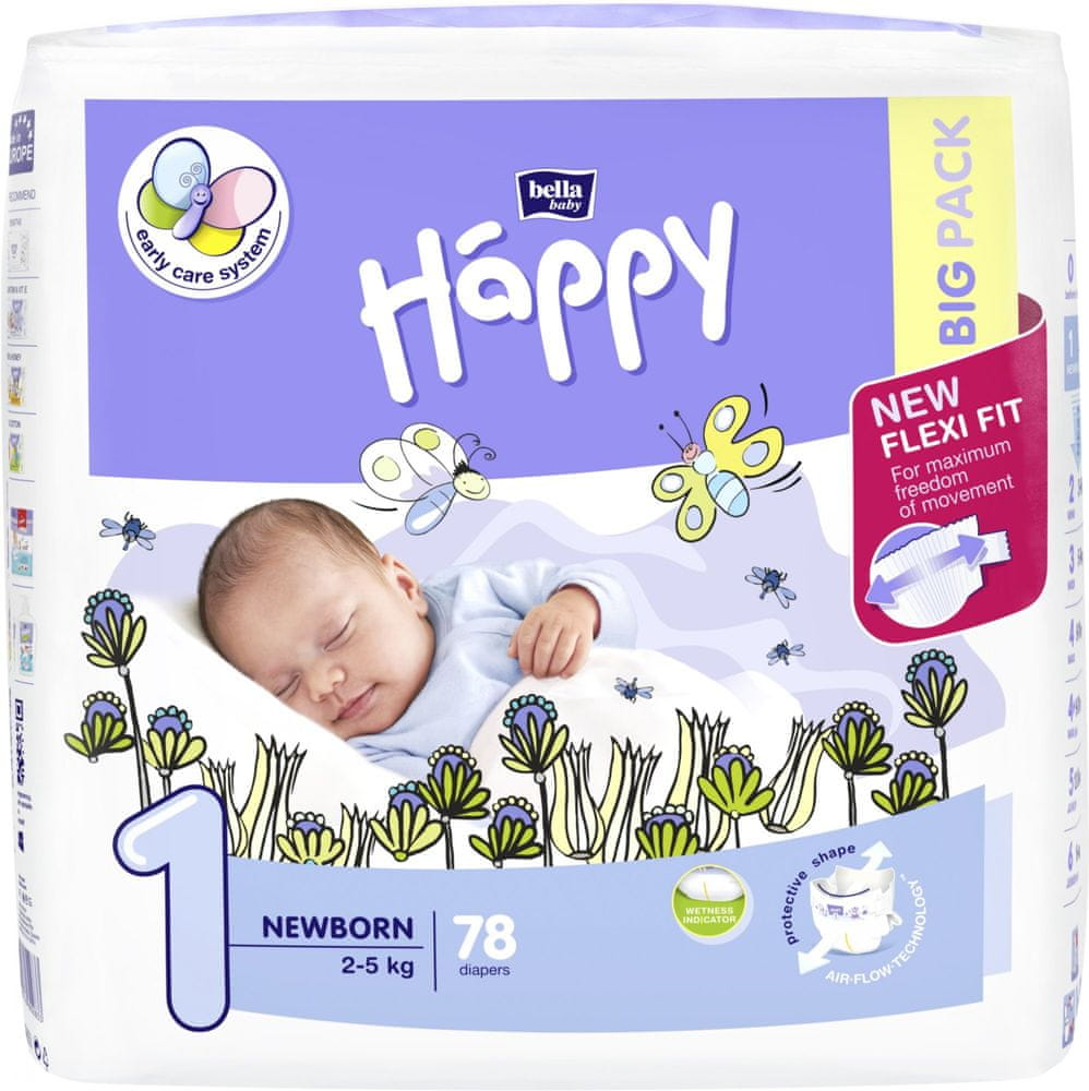 Bella Happy 1 New Born (2-5 kg) 78 ks