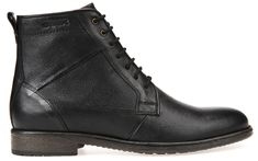 Geox Męskie buty skórzane Jaylon Czarny U74Y7C-00046-C9999