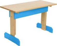Wood Partner Dětský rostoucí stůl MAXÍK lak/modrá