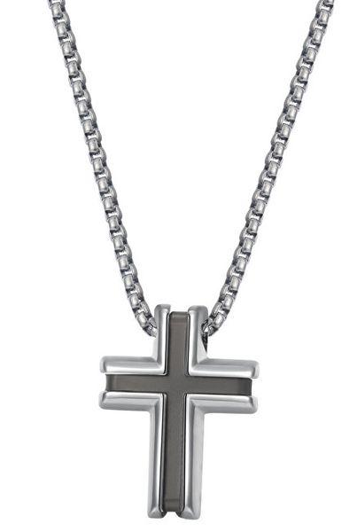 Brosway Pánský ocelový náhrdelník s křížkem District BIT02