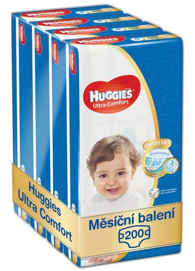 Huggies Ultra Comfort Jumbo 4 (8-14 kg) 200 ks (4x50 ks) - měsíční balení