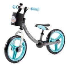 KinderKraft 2way pedál nélküli gyerek kerékpár tartozékokkal, türkiz