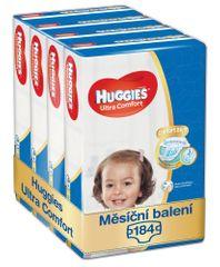 Huggies měsíční balení 4x46 ks Ultra Comfort Jumbo 4+ (184ks)