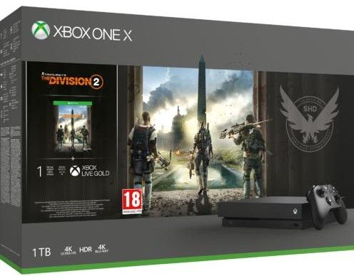 Microsoft Xbox One X 1tb + Tom Clancy'S The Division 2