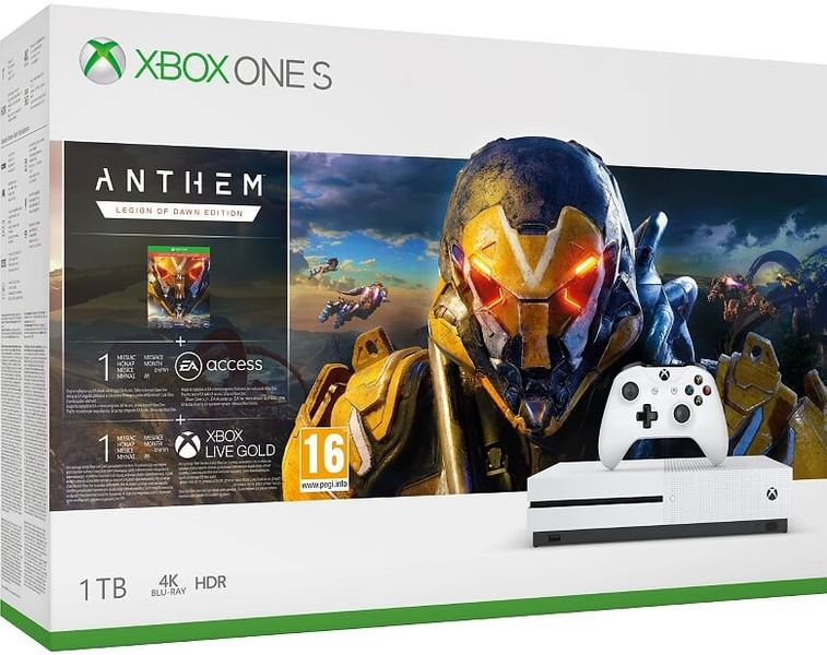 Microsoft Xbox One S 1TB + Anthem: Legion of Dawn Edition