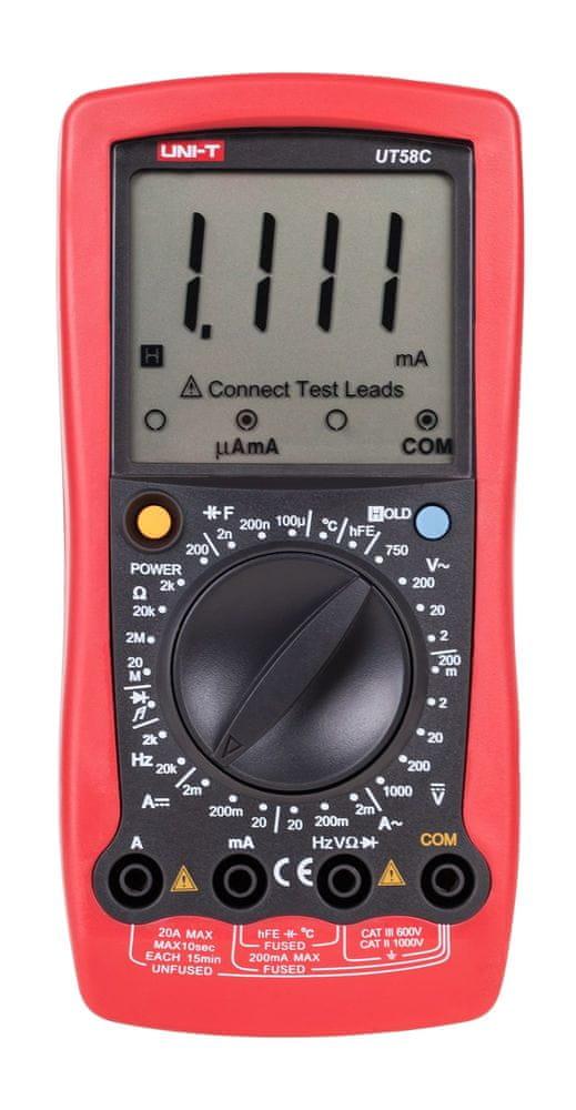 UNI-T Digitálny multimeter UT58C