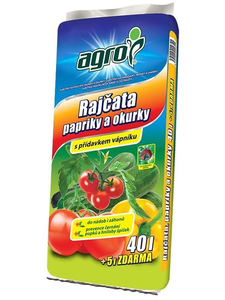 AGRO CS Substrát pro rajčata, papriky a okurky 40 + 5 l ZDARMA