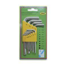 JBM set imbus ključev, 10-delni