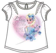 Disney by Arnetta majica za djevojčice Frozen, bijela, 86
