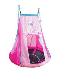 Hudora viseča gugalnica s šotorom Heart, 110 cm, pink