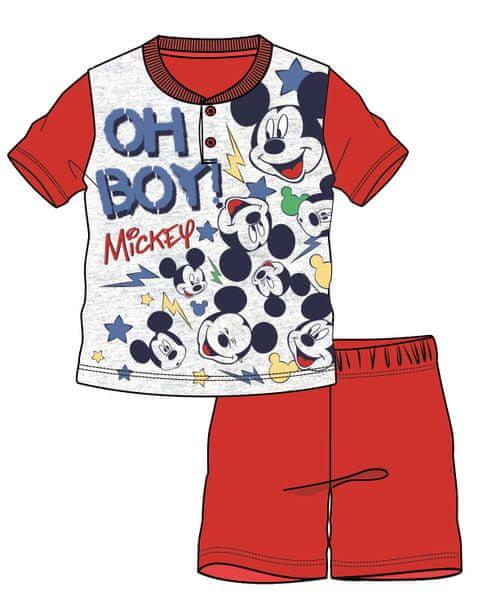 Disney by Arnetta chlapecké pyžamo Mickey Mouse 128 červená
