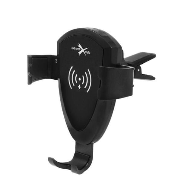 EXTREME STYLE Gravitační držák na telefon do auta s bezdrátovým nabíjením, rozpětí 60 - 88 mm