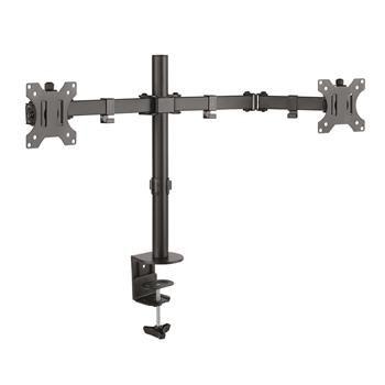 Connect IT TwinArm Basic Alfa stolní držák na 2 monitory, černý CMF-3203-BK