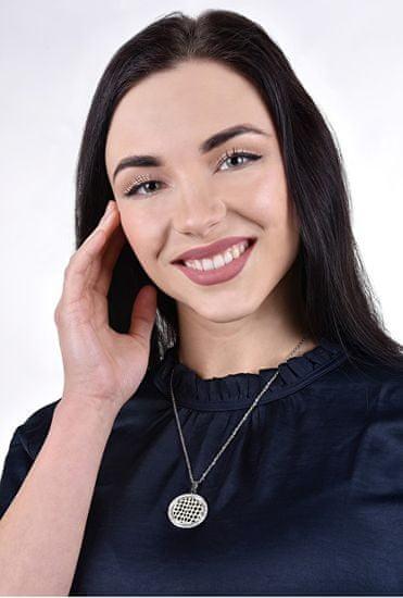 Lotus Style Jeklena ogrlica s kristali LS1778-1 / 2