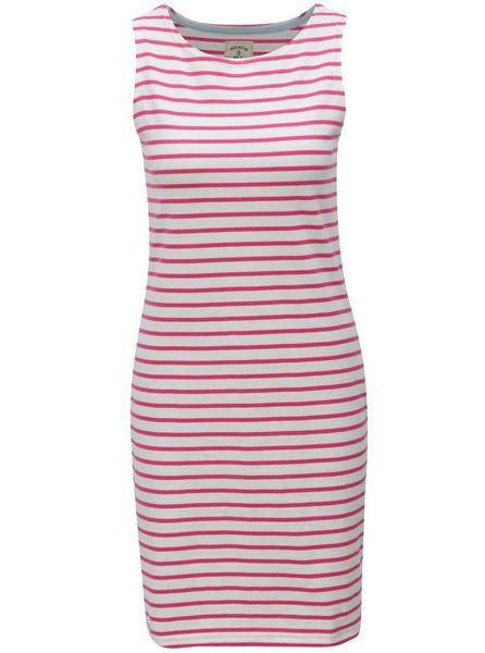 Tom Joule růžovo-bílé dámské pruhované šaty Jersey 46 12135953ec