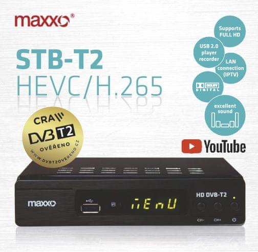 MAXXO DVB-T2 H.265 SENIOR