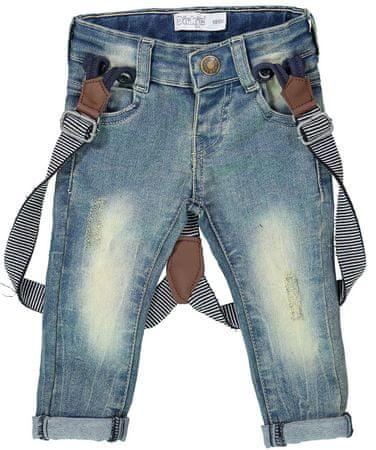 Dirkje chlapecké džíny s kšandami 86 modrá  32a0d64085
