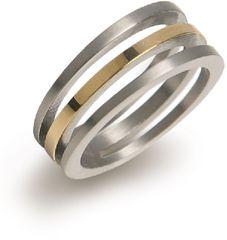 Boccia Titanium Pozlátený titánový prsteň 0128-02