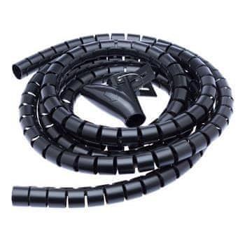 CONNECT IT trubice pro vedení kabelů WINDER, 2, 5m x 20mm, černá (organizér kabelů) - CI-514