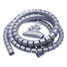 Connect IT Trubice na vedení kabelů WINDER, 2,5 m × 20 mm, šedá CI-680