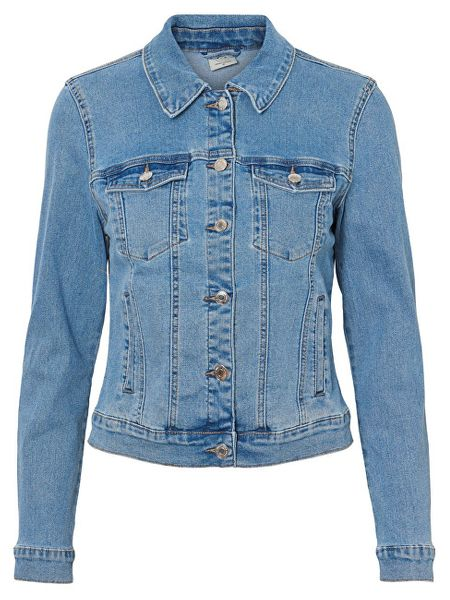 461ae1e9f35c Vero Moda Dámská bunda Hot Soya Ls Denim Jacket Mix Noos Light Denim Blue ( Velikost