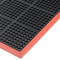 Černo-oranžová olejivzdorná průmyslová extra odolná rohož (100% nitrilová pryž) Durable - 2,2 cm