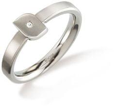 Boccia Titanium Titánový prsteň s diamantom 0141-02