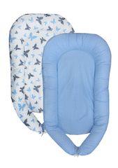 COSING gniazdo dla dziecka Sleeplease - Motylki, niebieskie