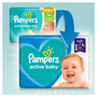 4 - Pampers Pieluchy Active Baby 3 Midi (6-10 kg)  Giant Pack - 90 szt.