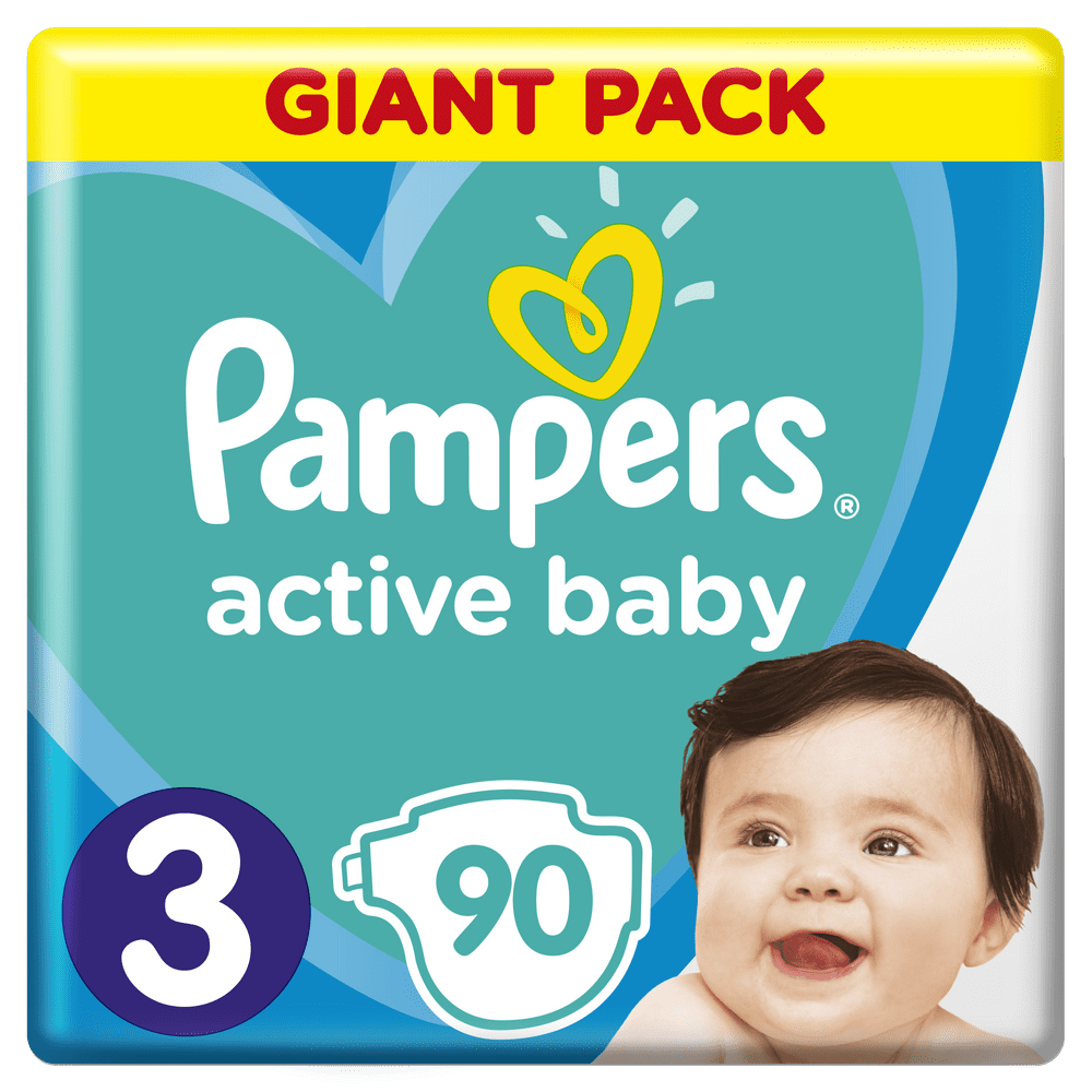 Pampers Pleny Active Baby 3 Midi (6-10 kg) Giant Pack 90 ks