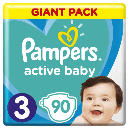 Pampers Pieluchy Active Baby 3 Midi (6-10 kg)  Giant Pack - 90 szt.
