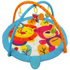 Baby Mix hrací deka s hrazdou - Lev a Méďa