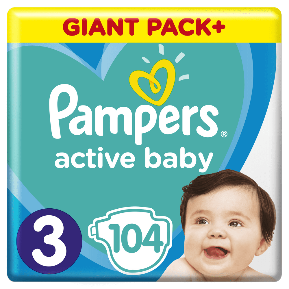 Pampers Pleny Active Baby 3 Midi (6-10 kg) Giant Pack 104 ks
