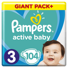 Pampers Pleny Active Baby 3 Midi (6-10 kg) Gigant Pack + 104 ks