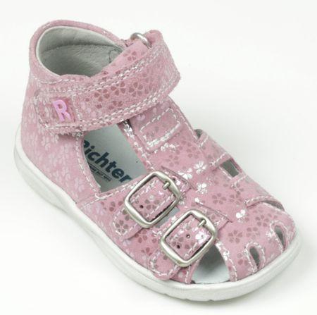 Richter dívčí sandálky s květinami 20