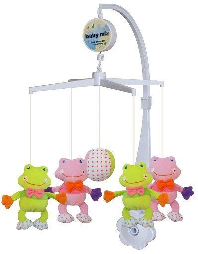 Baby Mix Plyšový kolotoč nad postýlku - Žabky