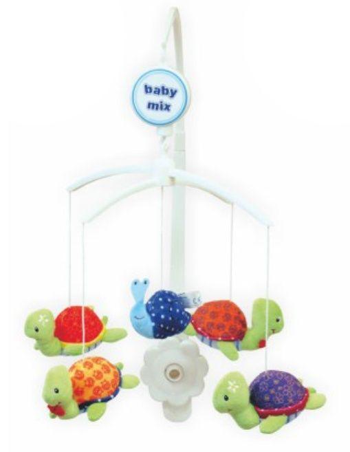Baby Mix Plyšový kolotoč nad postýlku - Želvičky