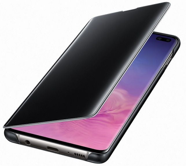 Samsung Clear View Cover Galaxy S10 plus, černé EF-ZG975CBEGWW - zánovní