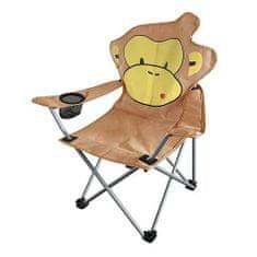 Zložljiv stol opica za otroke 35x35x55 cm