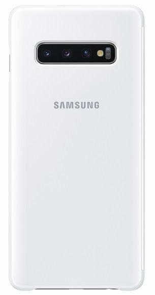 Samsung Clear View Cover Galaxy S10 plus, bílé EF-ZG975CWEGWW