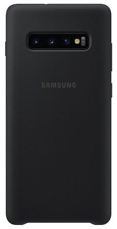 SAMSUNG Silicone Cover Galaxy S10 plus, černý EF-PG975TBEGWW